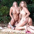 Threesome MILFs Kim Davis and Lilli Vanilli - image
