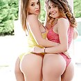 Poolside Threesome with Rimming and Teens - image