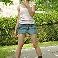 Jean Shorts and Roller Blades - image