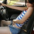 Ariel Rebel gets kinky in car - image