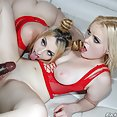 Cock Sharing Hotties Melody Parker and River Fox - image