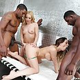 Aaliyah Love and Cherie Deville Black Cock Four Way - image